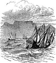 Sailing Ship, Vintage Illustra...