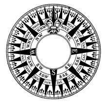 Mariner's Compass, Vintage Ill...