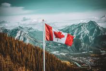Canadian Flag Landscape
