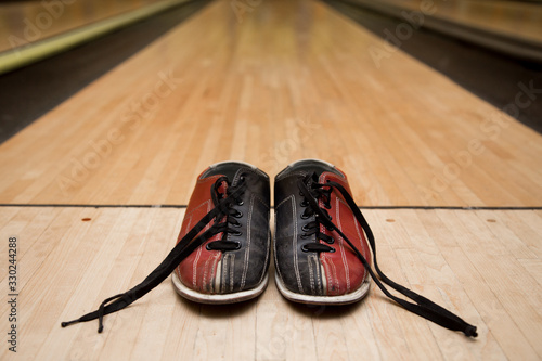 Fotografering Bowling accesoires. Concept of leasure and team building event.