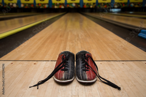 Bowling accesoires. Concept of leasure and team building event. Tablou Canvas