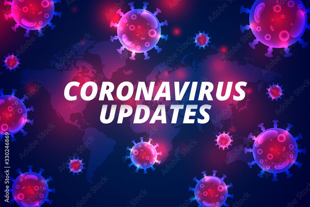 Fototapeta coronavirus updates latest covid-19 pandemic infection background