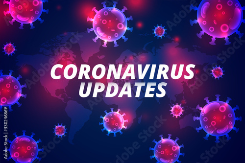 Obraz coronavirus updates latest covid-19 pandemic infection background - fototapety do salonu