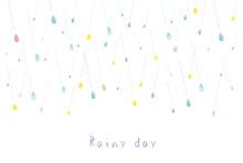 雨:かわいい 雫 雨...