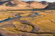 Flußlandschaft in derSteppe der Mongolei, Zentralasien