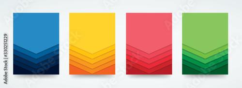 Obraz colorful lines template background vector illustration EPS10 - fototapety do salonu