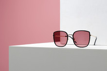 Trendy Women's Glasses. Fashion Still Life. Female Sunglasses