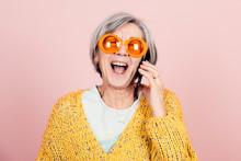Happy Young Style Elderly Gran...