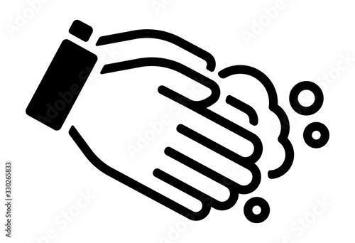 Obraz Hand washing vector icon illustration (Corona virus, flu , influenza prevetion ) - fototapety do salonu