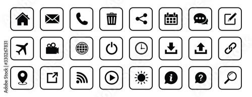 Website icon set, Web icon Set, symbol vector Canvas Print
