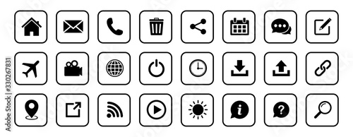 Website icon set, Web icon Set, symbol vector Wallpaper Mural