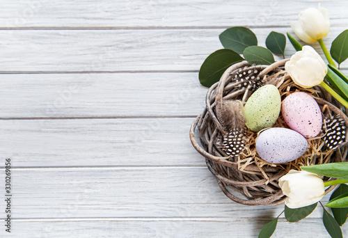Obraz Easter holiday background - fototapety do salonu