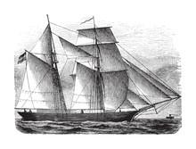 Old Sailing Ship / Vintage Ill...