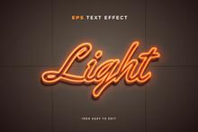 Neon Light Wall Sign Text Effect