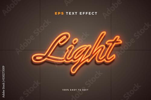 Fotomural Neon light wall sign text effect