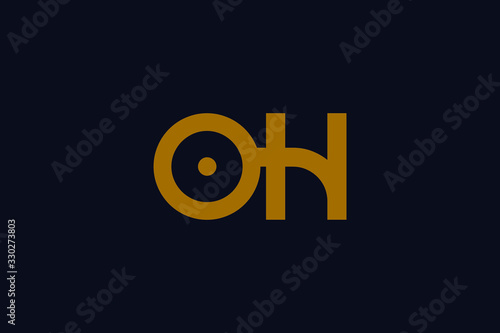 Creative Innovative Initial OH logo and HO logo Canvas Print