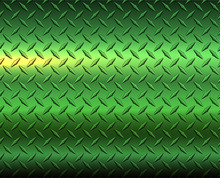 Metallic Green Diamond Steel Metal Sheet Texture Background