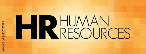 HR - Human Resources acronym, business concept background Wallpaper Mural
