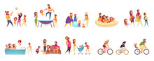 Set Of Cartoon Icons Family Ac...