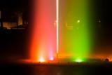 Fototapeta Tęcza - Kolorowa fontanna