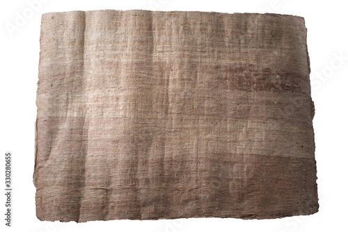 Papyrus on an isolated background - top view Wallpaper Mural