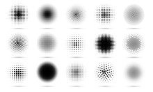 Circle Halftone. Abstract Dott...
