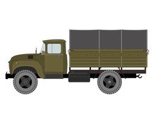 Army Truck, Illustration Isola...