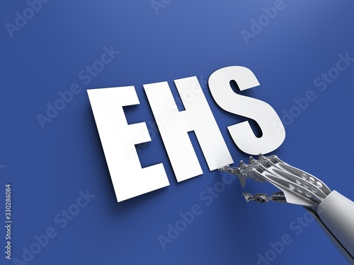 EHS acronym (European Home Systems Protocol) Wallpaper Mural