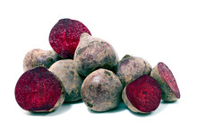 Beet Root Isolated On White Ba...