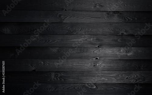 Obraz Black wooden background, old wooden texture - fototapety do salonu