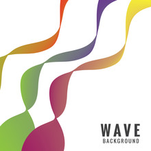 Abstract Motion Wave Background
