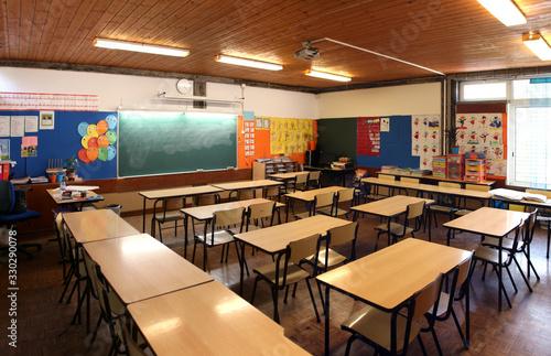 Photo interior of elementary school