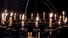 Wrought Iron Candle Holder Ins...
