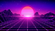 Retro Background Futuristic 80...