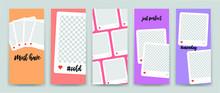 Editable Stories Template For Social Networks, Presentation, Flyer, Poster, Invitation, Stories, Streaming. Instagram Story Mockup.