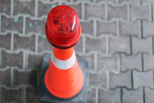 Close Up On Traffic Cones At T...