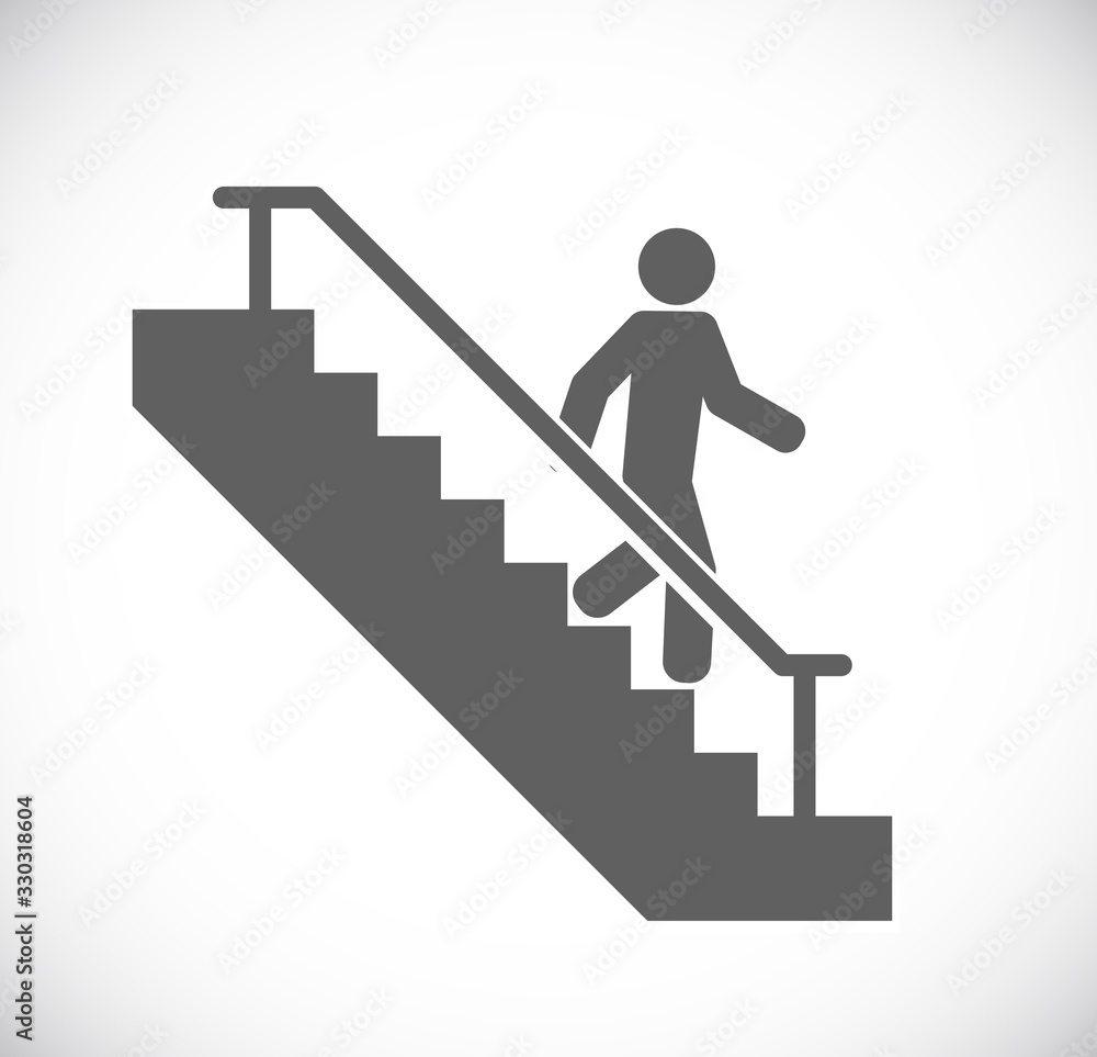 Fototapeta person go down stairs