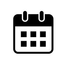 カレンダーのフラット...