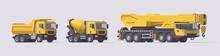 Vector Dump Truck & Concrete M...