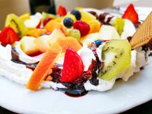 Fresh Fruits Mix With Vanilla ...
