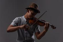 Handsome Asian Man Hold Violin...