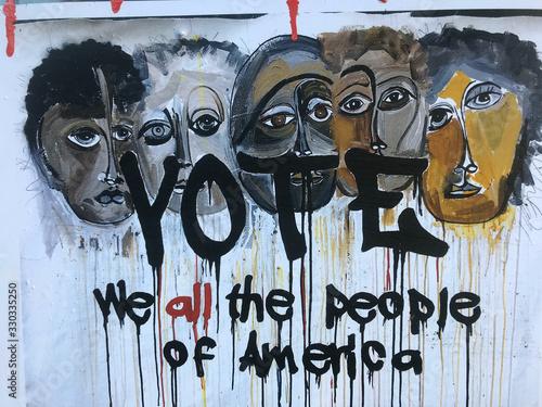 Graffiti, New York City Canvas Print