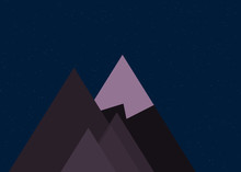 Mountains Panorame Abstract Random Placed Generative Art Background Illustration