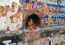 Tiny Ganesha On The Wall At Qu...