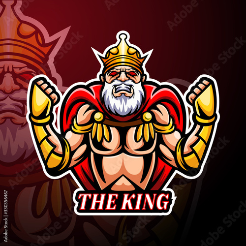 Valokuvatapetti The King esport logo mascot design