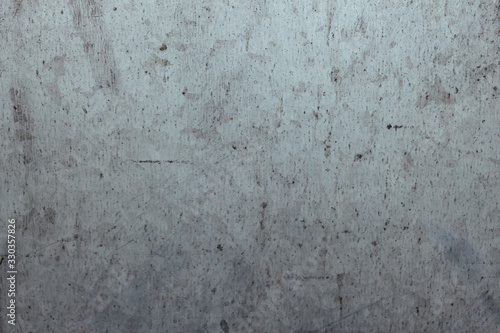 Sheet metal texture with many scratches, background image. Wallpaper Mural