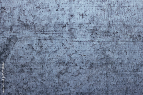 Sheet metal texture with many scratches, background image. Canvas Print