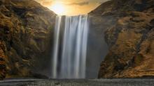 Skogafoss Waterfall In Iceland...