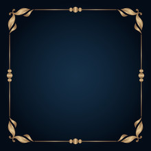 Vintage Gold Frame With Scroll...