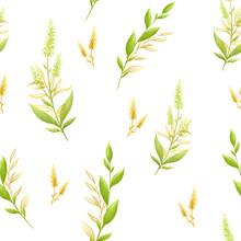 Fabric Pattern Golden Flowers ...